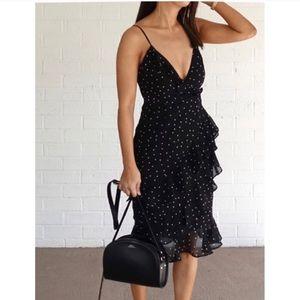 Majorelle Black and White Polka Dot dress